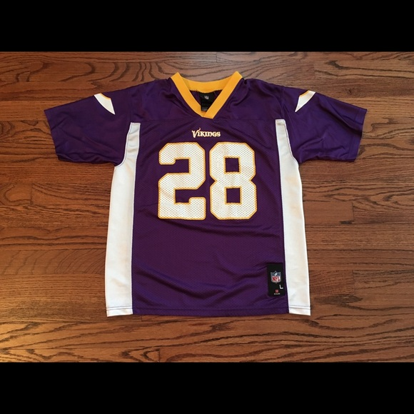 official photos 8d755 d2af8 NFL Team Apparel Vikings Jersey Peterson Youth L